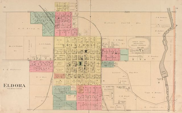 Plat book of Hardin County, Iowa : drawn from actual surveys & county records /