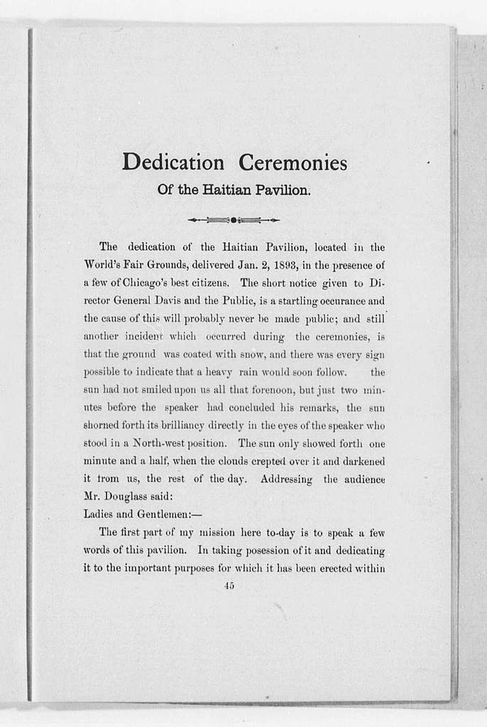Printed Speeches (by Douglass), 1892-1893