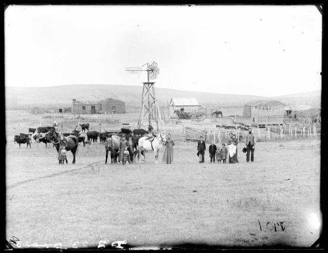 Robert G. Farritor family, Custer County, Nebraska.