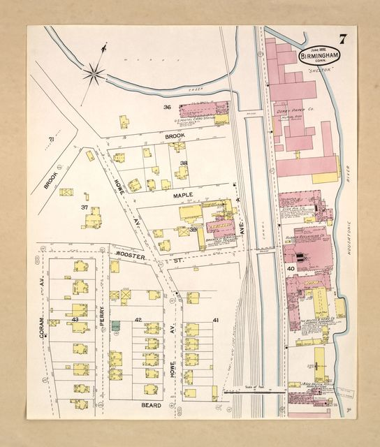 Sanborn Fire Insurance Map from Birmingham, New Haven County, Connecticut.