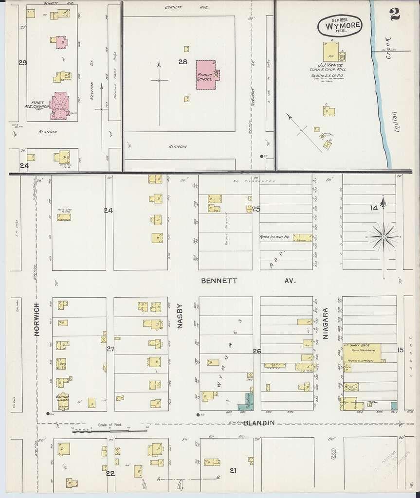 Sanborn Fire Insurance Map from Wymore, Gage County, Nebraska