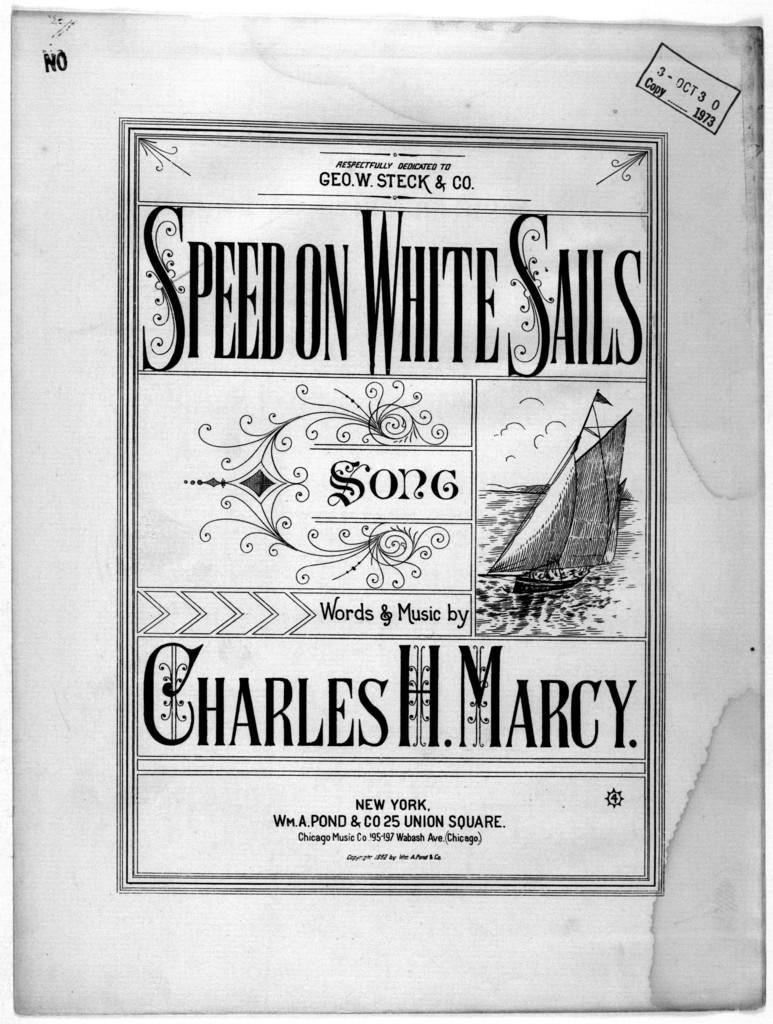 Speed on white sails