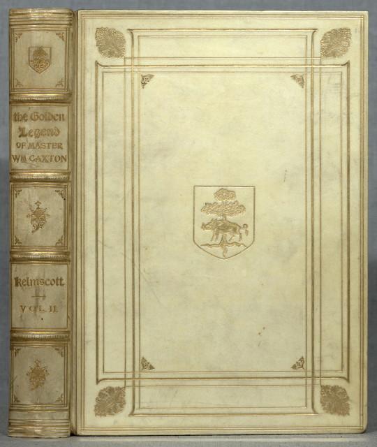 The golden legend.  Legenda aurea. English  Hammersmith : Kelmscott Press ; London : Sold by Bernard Quaritch, 1892.  3 v. (xii, 1286 p.) ; 31 cm.