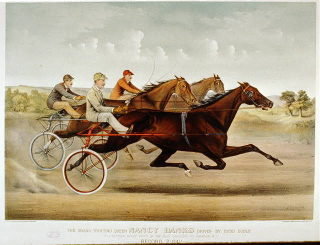 The grand trotting Queen Nancy Hanks driven by Budd Doble