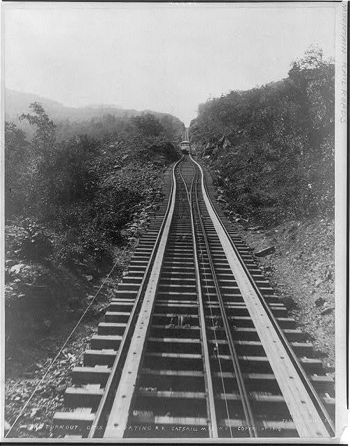 The Turn-out, Otis Elevating RR, Catskill Mts., N.Y.