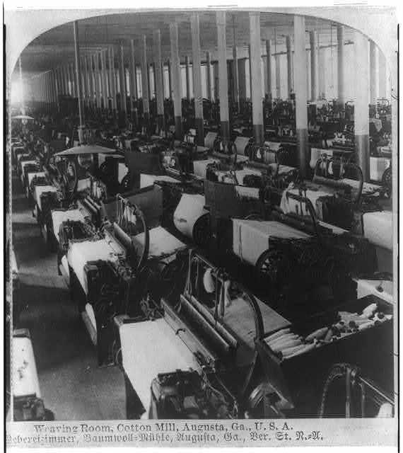 Weaving room, cotton mill, Augusta, Ga., U.S.A.
