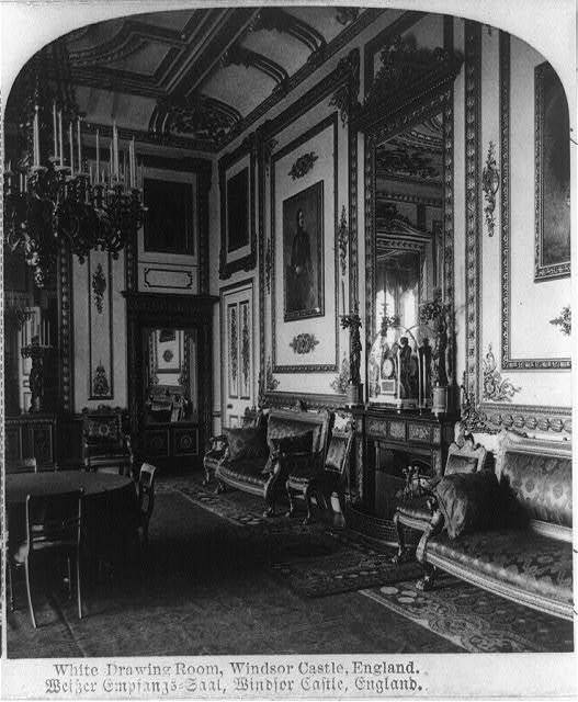 White drawing room, Windsor Castle, England