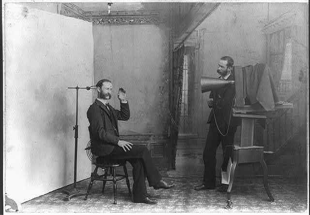 [A photographer appears to be photographing himself in a photographic studio] / Wheeler, Berlin, Wis.