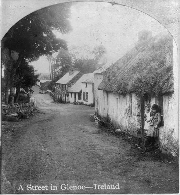 A street in Glenoe, Ireland