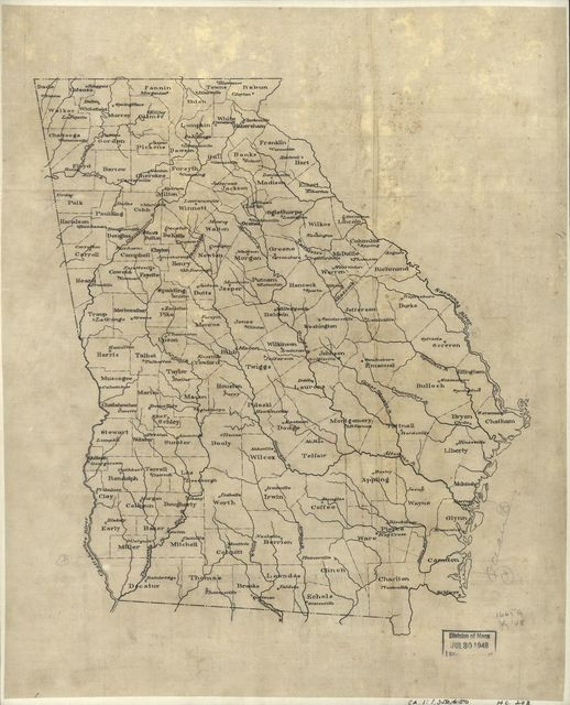 [Base map of Georgia].