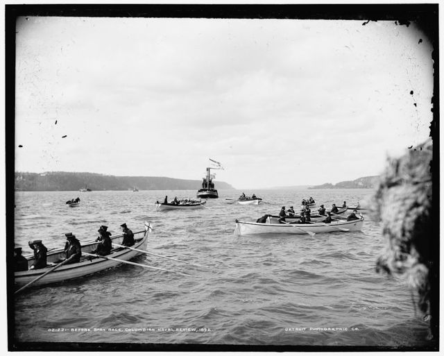 Before boat race, Columbian Naval Review, 1892 [i.e. 1893]