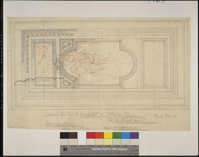 [Biltmore, Asheville, North Carolina. Library. Study for ceiling design] / ELM.