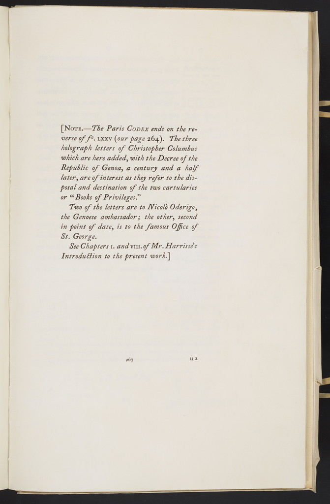 Christopher Columbus, his own book of privileges, 1502 : photographic facsimile of the manuscript in the archives of the Foreign Office in Paris ...