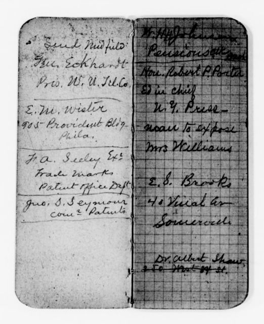 Clara Barton Papers: Miscellany, 1856-1957; Financial and legal papers; Account books; 1893-1895