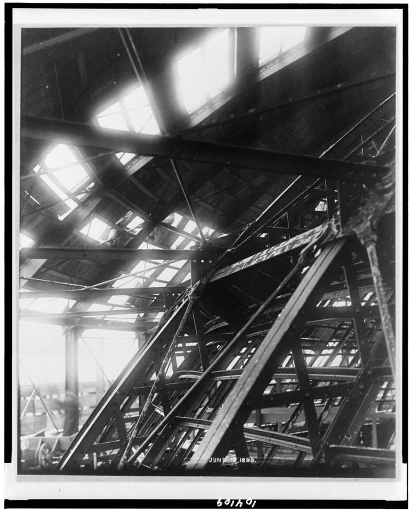 [Construction in interior of the Jefferson Building, Library of Congress]