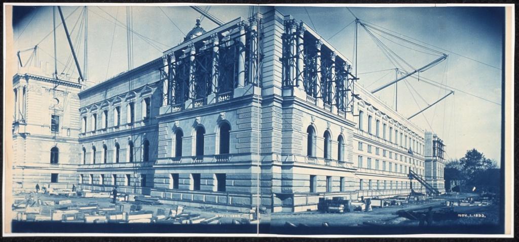 Construction of the Library of Congress, Washington, D.C., Nov. 1, 1893