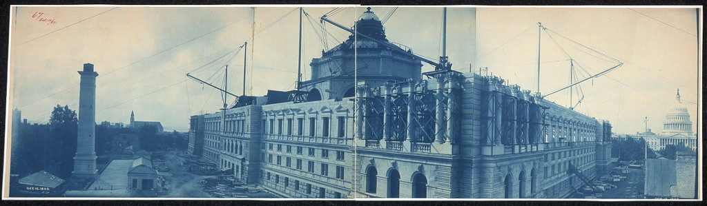 Construction of the Library of Congress, Washington, D.C., Oct. 12, 1893