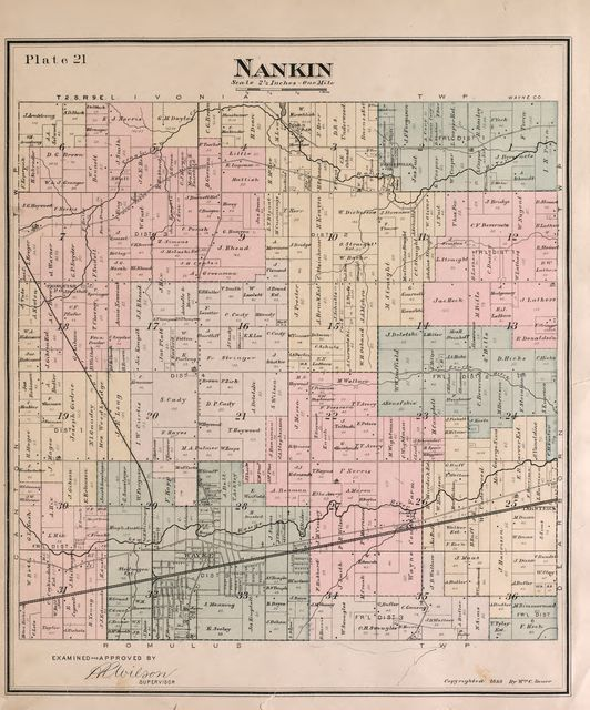 Detailed official atlas of Wayne County, Michigan : containing general maps of Wayne County and city of Detroit, general township maps ... : also detail plats of all recorded subdivisions and additions in the county, outside the city limits of 1891 /
