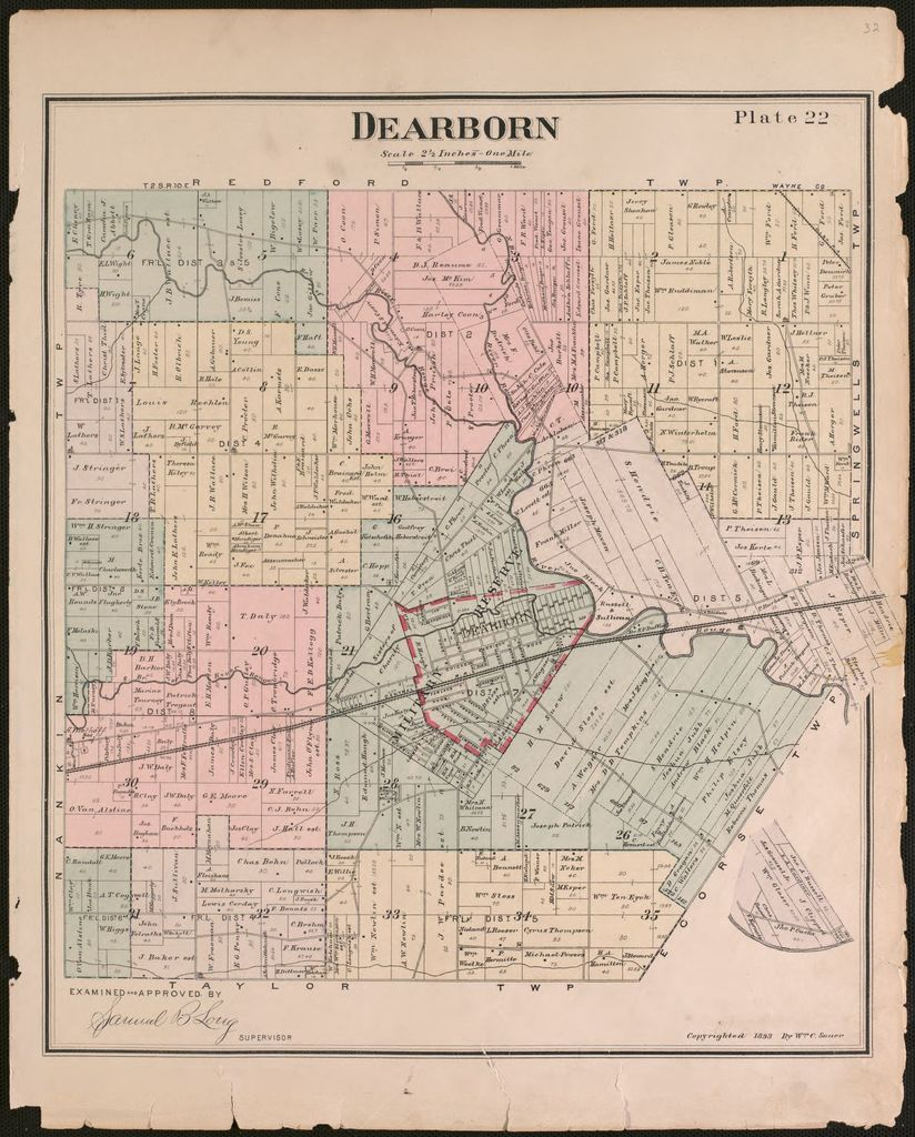 Detailed Michigan Map.Detailed Official Atlas Of Wayne County Michigan Containing