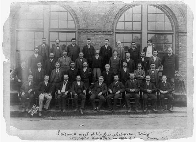 Edison and most of his Orange laboratory staff