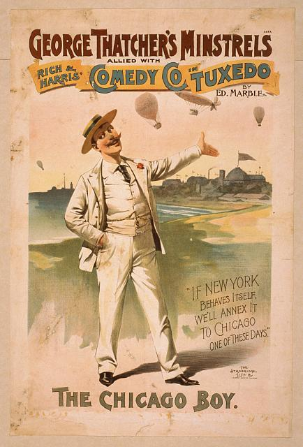 George Thatcher's Minstrels allied with Rich & Harris' Comedy Co. in Tuxedo by Ed. Marble