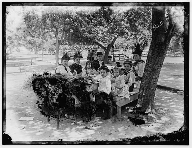 Group at picnic table - Marshall Hall, Md.