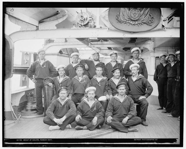 Group of sailors, Russian navy