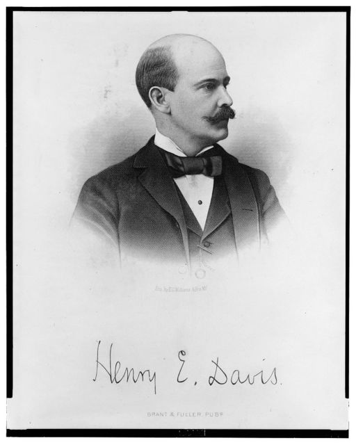 [Henry E. Davis, head-and-shoulders portrait, facing slightly right] / eng. by E.G. Williams & Bro, N.Y.