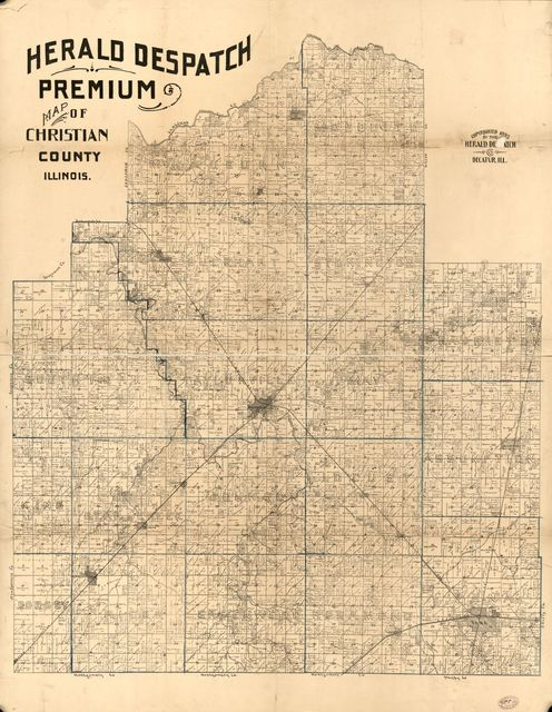 Herald Despatch Premium map of Christian County, Illinois.