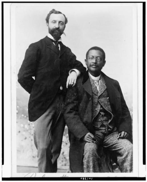Hon. William E. Rothery, Philadelphia, Pa., & Hon. Alfred B. King. Clay - Ashland, Monrovia, Liberia, Liberian Commissioners to the Columbian Exposition, Chicago, Ill., 1893 / Rothengatter, Philadelphia.