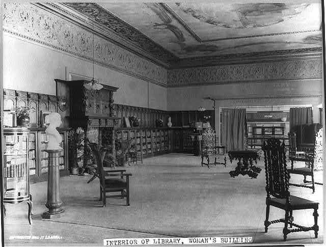 [Ill. - Chicago - World's Columbian Exp. (Woman's Bldg.): interior of library]