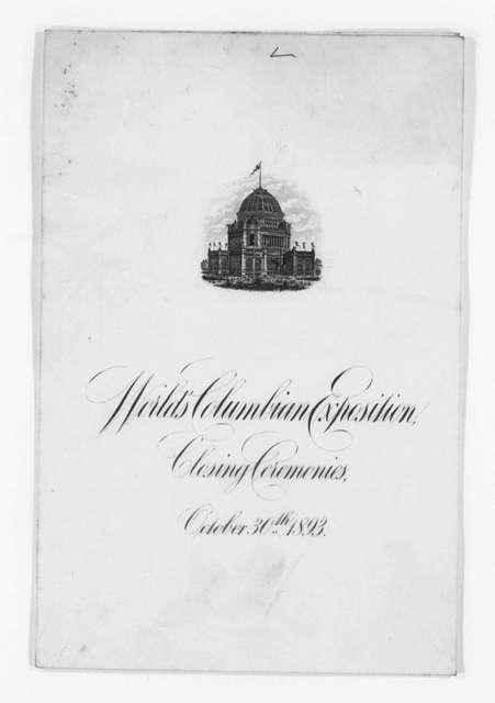Invitation File, 1893