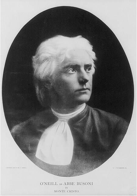 [James O'Neill, 1849-1920, bust portrait, as Abbé Busoni in Monte Cristo, facing right. Actor]