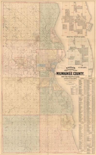 Knell's quarter-sectional map of Milwaukee County, South Milwaukee and Cudahy /