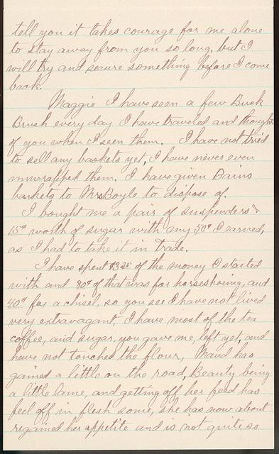 Letter from Uriah W. Oblinger to Laura I. Oblinger, Sadie Oblinger, Nettie Oblinger, Maggie Oblinger, and Lillie Oblinger, October 18, 1893