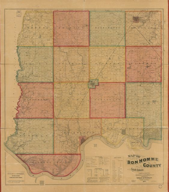 Map of Bon Homme County, South Dakota : compiled and drawn from a special survey and from official records.
