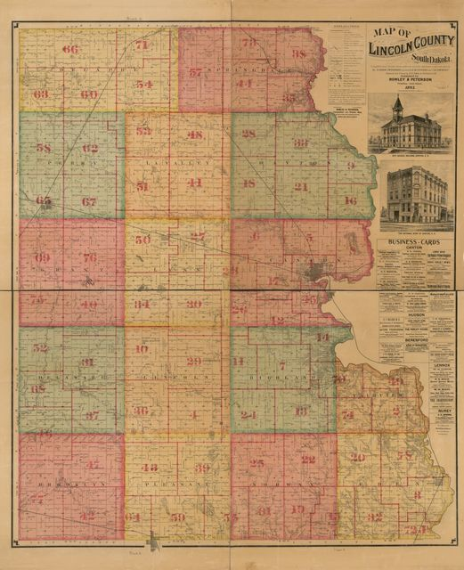 Map of Lincoln County, South Dakota : compiled and drawn from official records and a special survey.