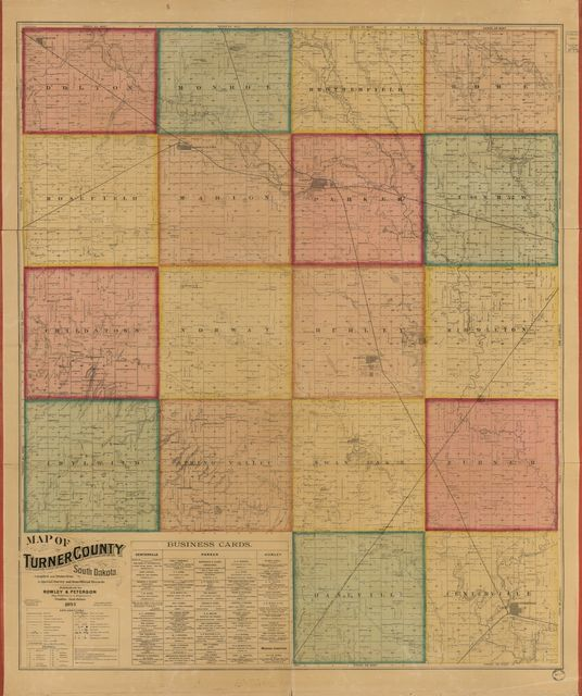 Map of Turner County, South Dakota : compiled and drawn from a special survey and from official records.