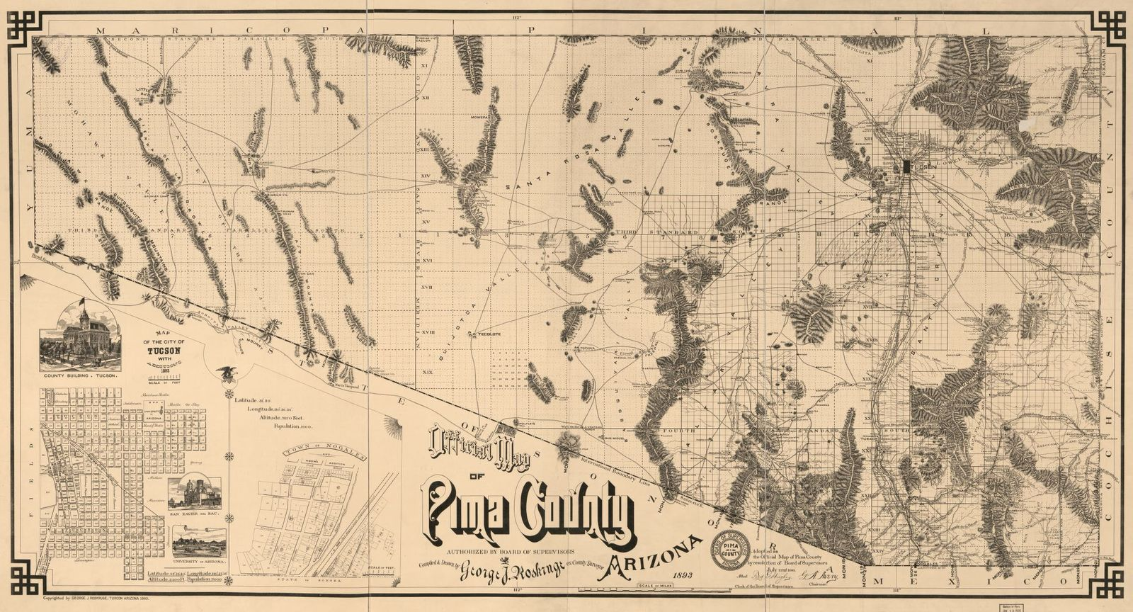 Official Map Of Pima County Arizona Picryl