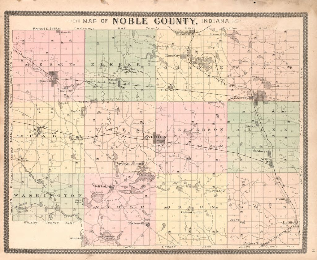 Plat book and statistical record of Noble County, Indiana ...
