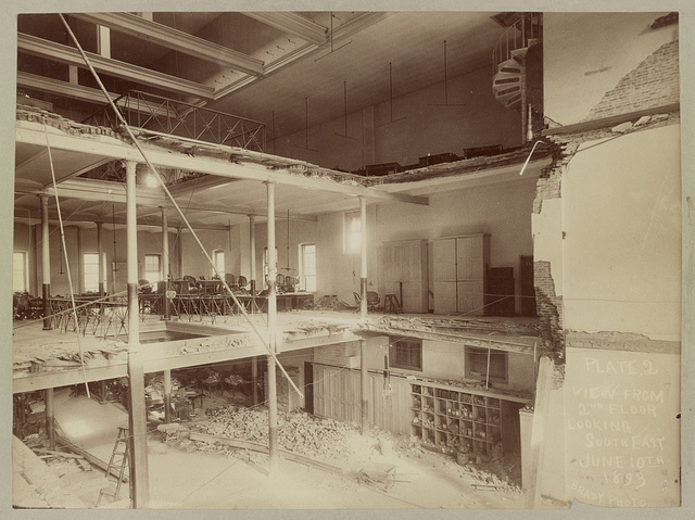 Plate 2, view from 2nd floor looking south east, June 10th, 1893 / Brady Photo.