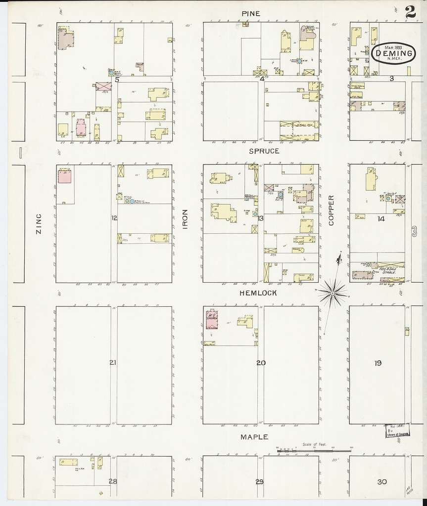 Sanborn Fire Insurance Map from Deming, Luna County, New Mexico