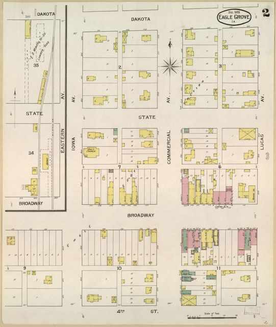 Sanborn Fire Insurance Map from Eagle Grove, Wright County, Iowa.