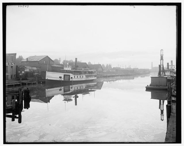 [Steamer on Black River, Pt. Huron]
