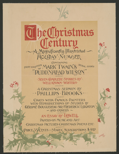 The Christmas Century, a magnificently illustrated holiday number...