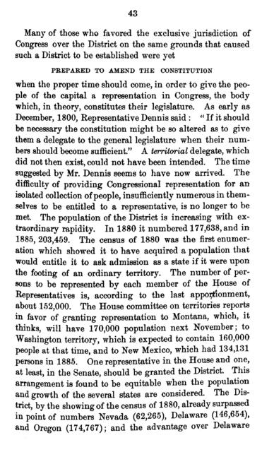 The national capital. Newspaper articles and speeches concerning the city of Washington,