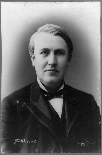 A picture of Thomas Edison from 1878 <br>(www.americaslibrary.gov/.../ jb/gilded/edison_1)