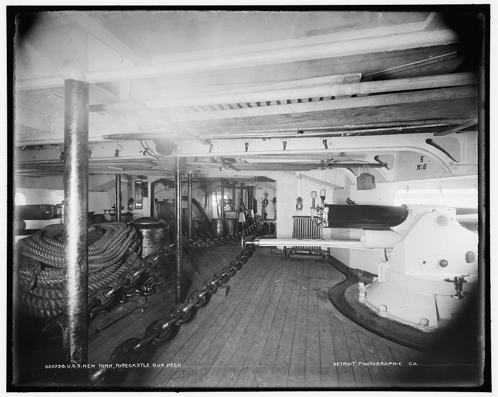 U.S.S. New York, forecastle gun deck