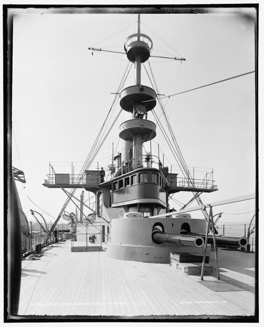 U.S.S. New York, forward turret and bridge