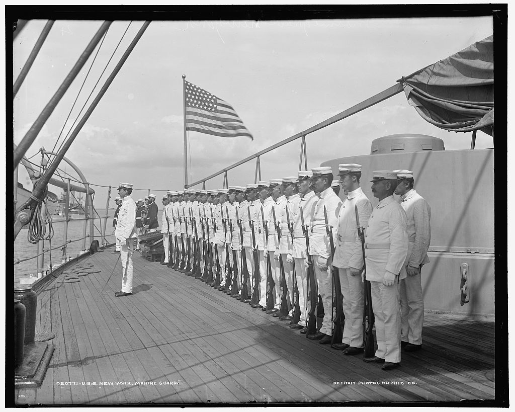 U.S.S. New York, marine guard